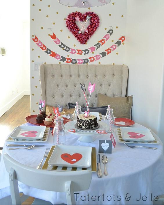 Inspiracion para decorar la mesa de san valentin for Mesa para san valentin