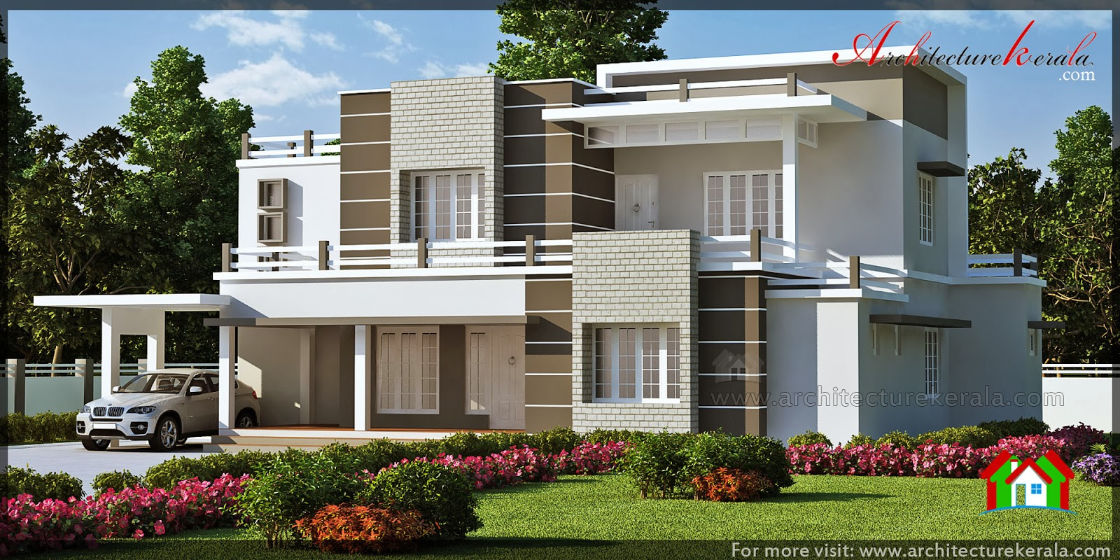 Beautiful contemporary style elevation architecture kerala for Modern contemporary house elevations