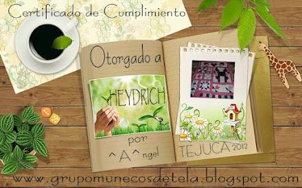 Certificado 1er Tejuca 2012