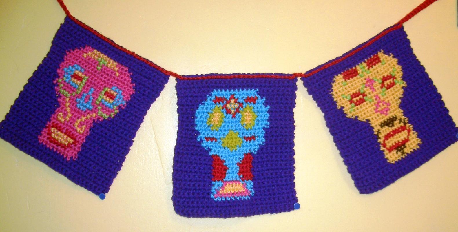 Crochet Parfait Day Of The Dead Banner
