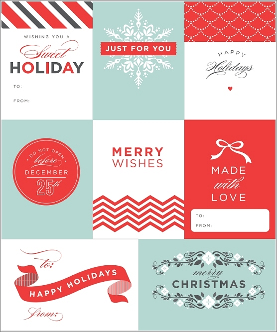 holiday gift tag templates