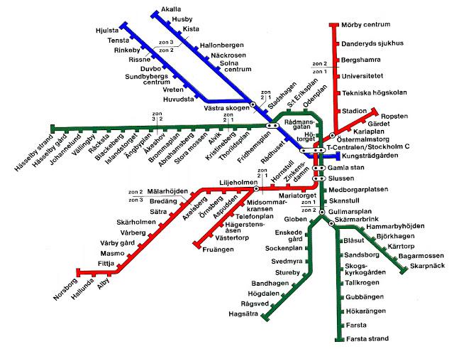 Plano de Metro de Estocolmo