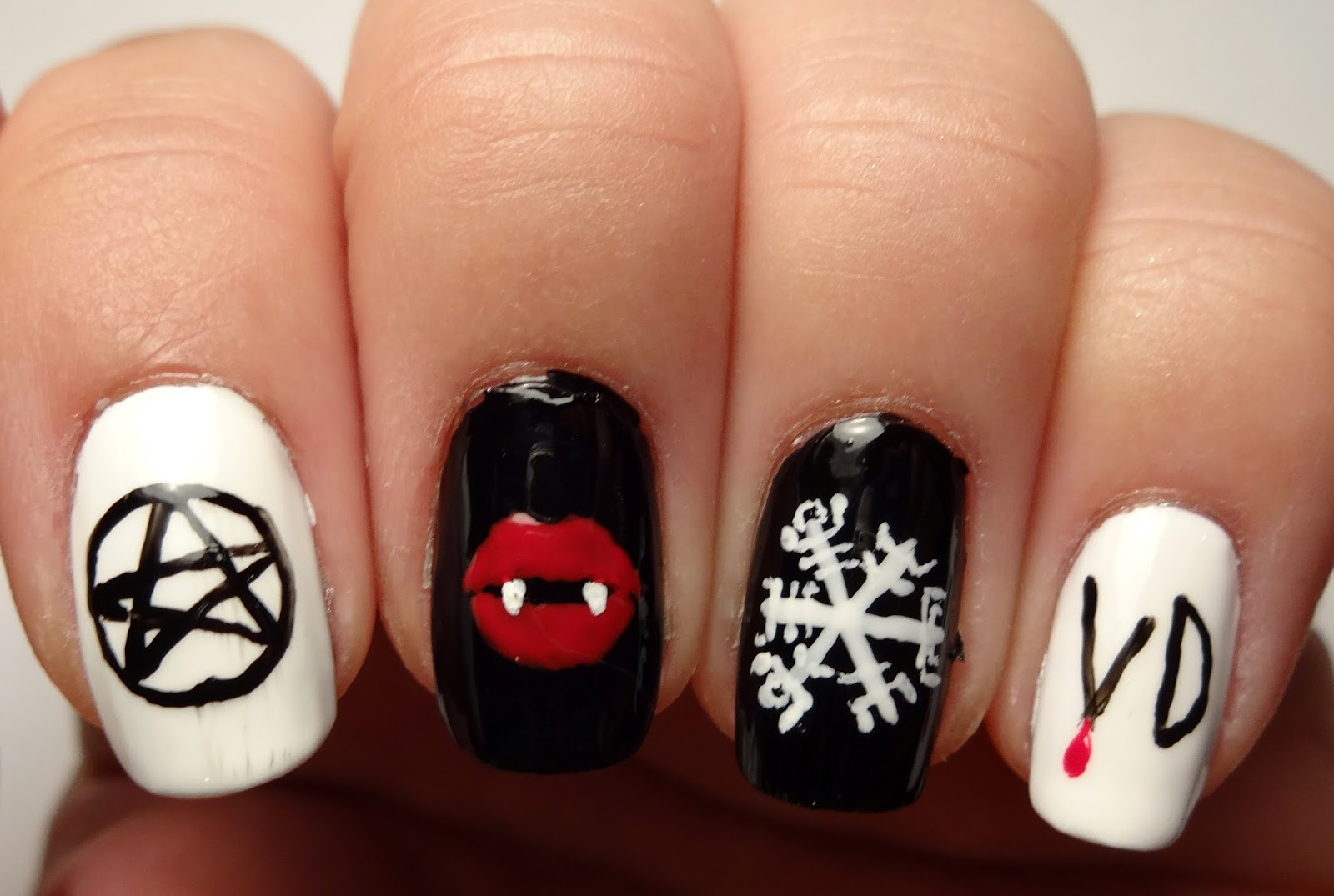 Lacquered Lawyer Nail Art Blog The Vampire Diaries