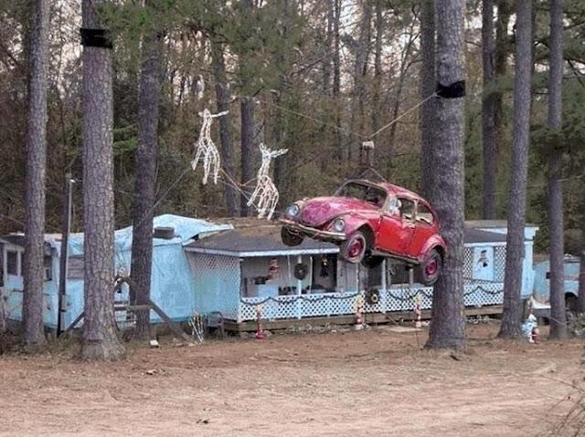 VW Bug Santas Sleigh