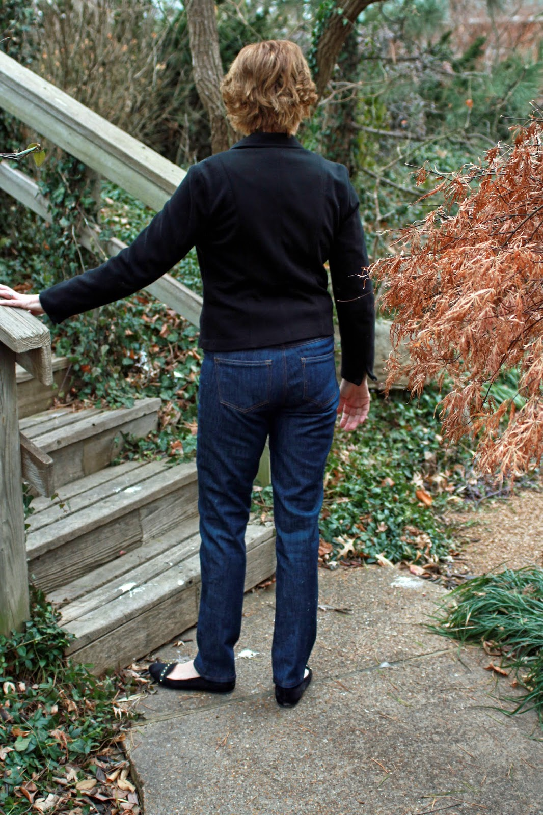 Mood Fabrics' stretch denim using Ginger Jeans pattern