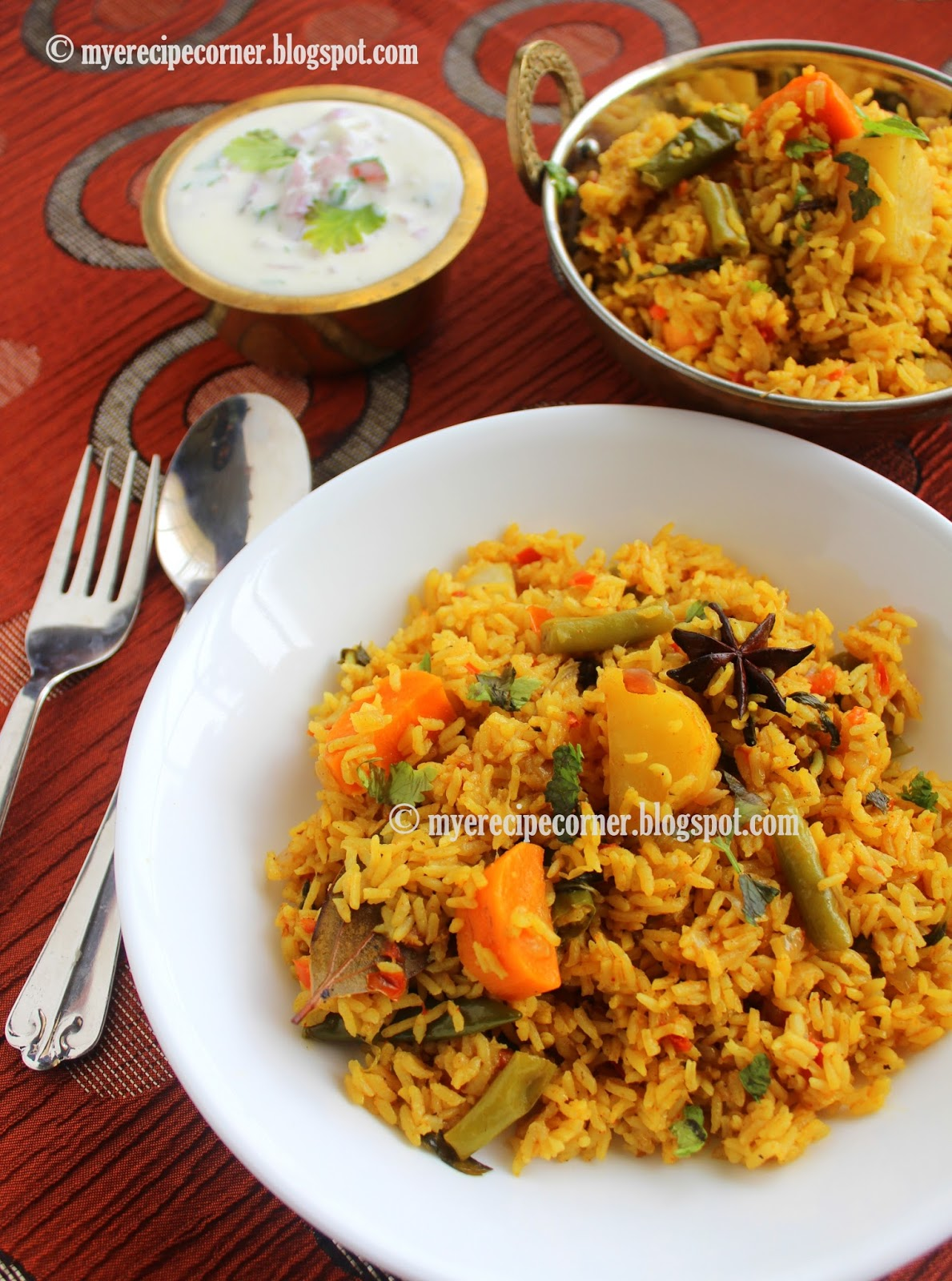 Chettinad vegetable biryani kaikari biryani chettinad recipes chettinad vegetable biryani recipe forumfinder Image collections