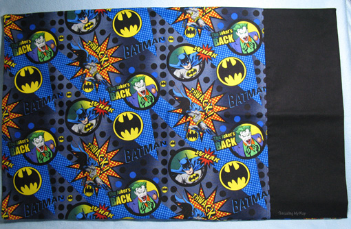Batman Pillowcase ~ Threading My Way