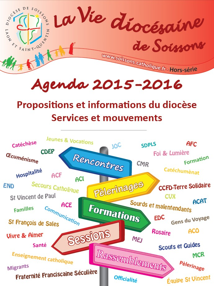 Consultez en ligne l'agenda diocésain 2015 / 2016