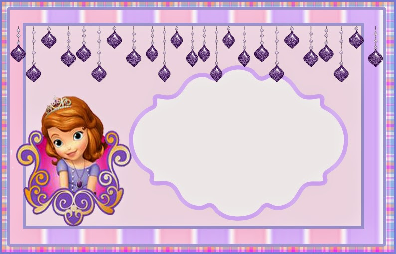 Sofia the First Free Printable Invitations or Photo Frames – First Birthday Printable Invitations