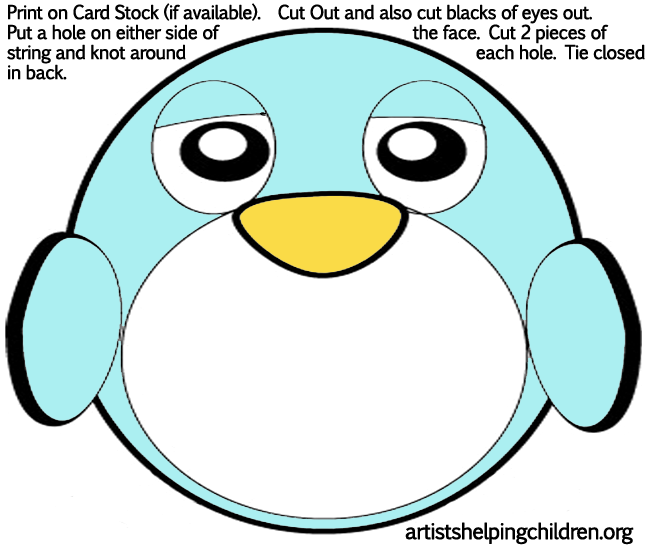 Go Back > Gallery For > Printable Penguin Mask Template