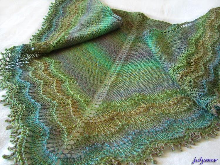 Вязание шалей на осинке
