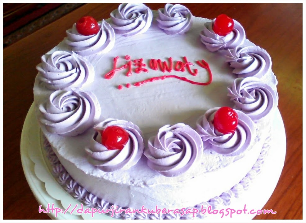 Sweet Red Cherry Birthday Cake Yam Cake For My Sis Liza
