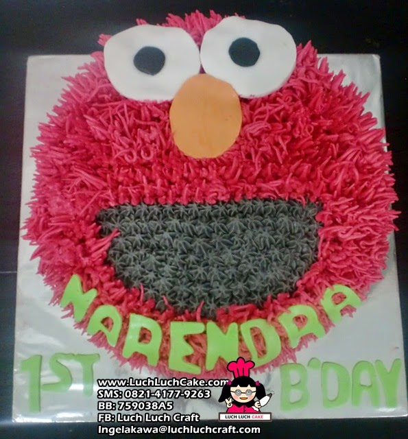 Kue Tart Ulang Tahun Elmo