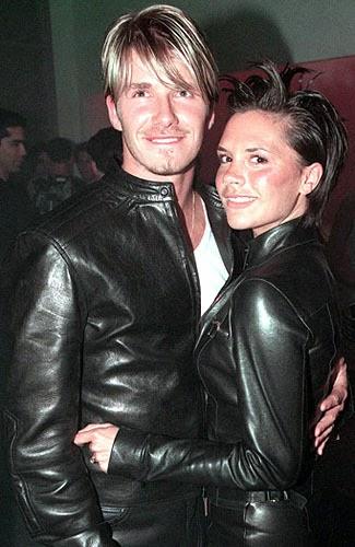 black leather jacket beckham with victoria