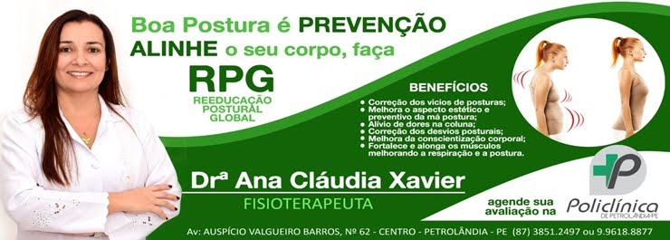 DRA. ANA CLÁUDIA XAVIER - FISIOTERAPEUTA