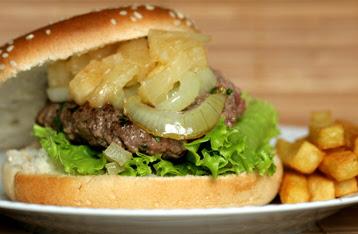 гавайский бургер, гамбургер
