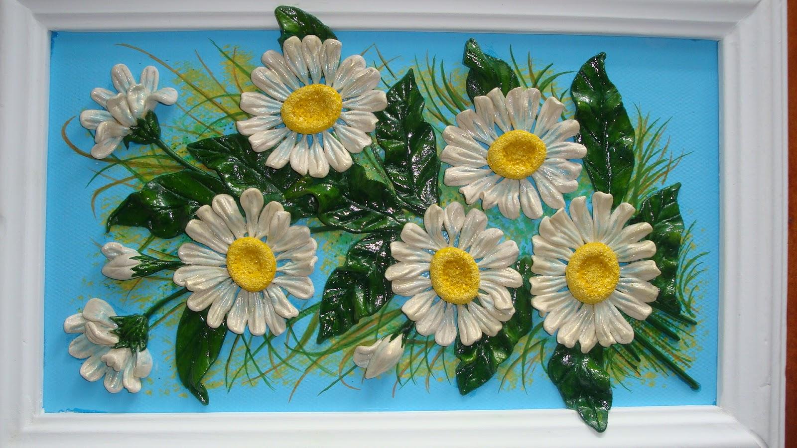 Цветы из соленого теста как сделать