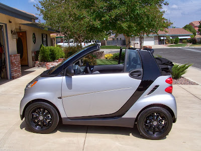 Beautiful Black and White Smart Car