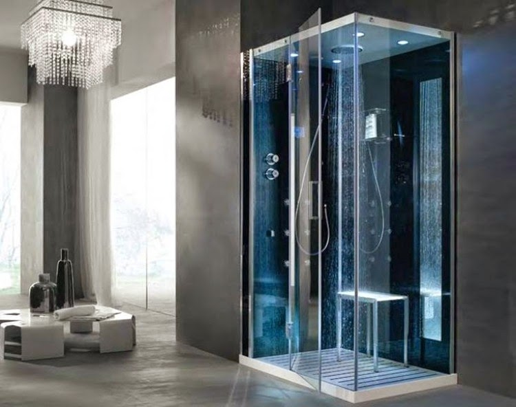 Walk in shower enclosures modern bathroom15 Modern walk in glass shower enclosures and doors. Modern Walk In Bathrooms. Home Design Ideas