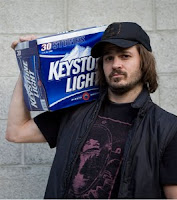 Keystone Light Beer commercial guy white trash Keith Stone frat boy redneck
