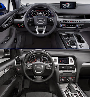 Interior Dashboard View: 2015-2016 Audi 1st gen Q7 vs 2nd gen Q7