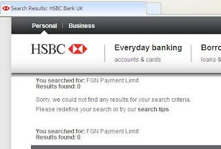 HSBC FGN Payment Limit - £6 charge