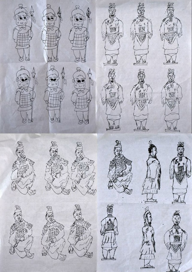 The second student, Zhou Feng offered to draw one hundred terracotta warriors instead, a task he took two hours to complete.