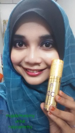 Review Raily Collagen CC Cream, collagen cc cream, foundation terbaik, alas bedak terbaik, foundation tak cair, foundation senang guna