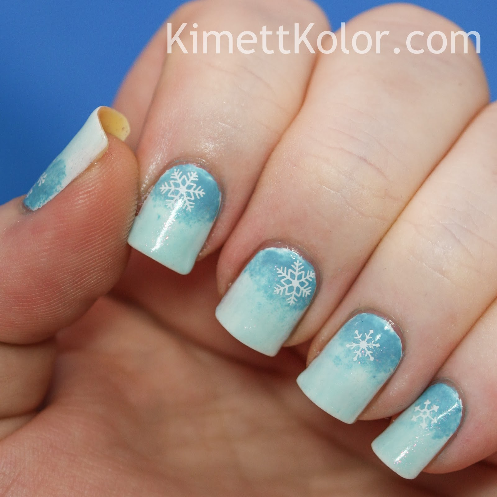 Snow Frosted Blue Half-Moons | Kimett Kolor