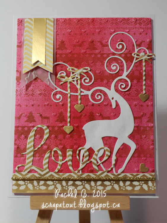 Handmade card, Impression Obsession, Valentine,