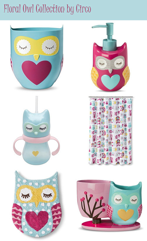 my owl barn quot floral owl quot bath accessories