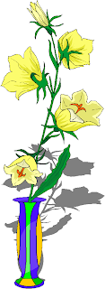Yellow Flowers in The Vase Free Clipart