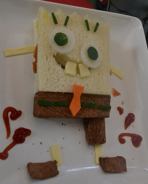 Cara membuat Sandwich lucu Sponge Bob