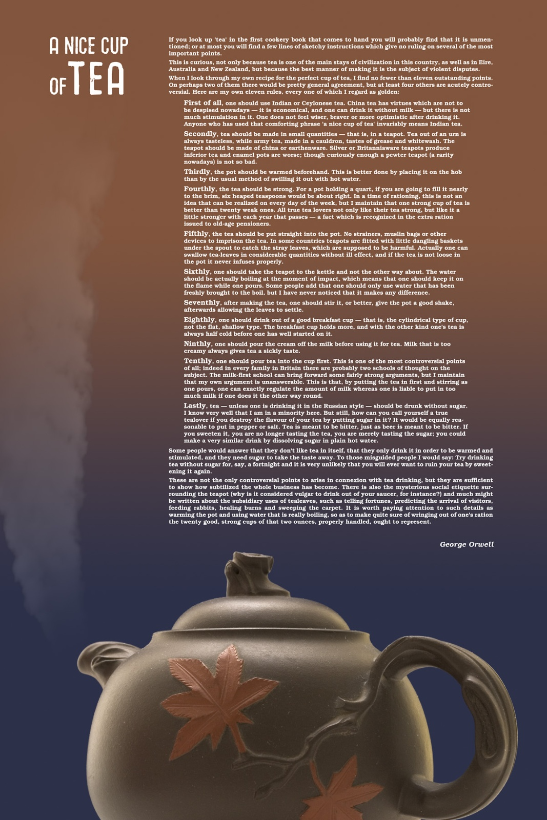 George orwell tea essay