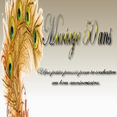 Carte anniversaire de mariage gratuite imprimer 50 ans for 50 robes de mariage anniversaire
