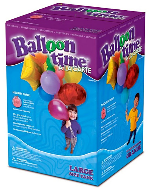 Sæt med helium og balloner