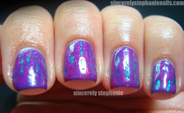 color club wing fling metamorphosis hairbrush nail art