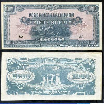 Uang kuno Jepang Seriboe Roepiah