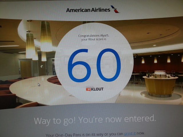 Klout Perk American Airlines