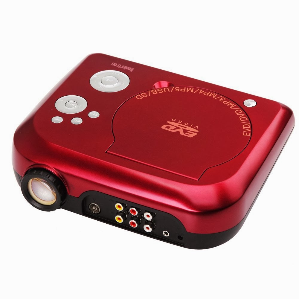 Portable projector with dvd for Portable movie projector