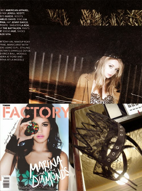 Lace crown by Jenny Dayco featured in Tokion magazine