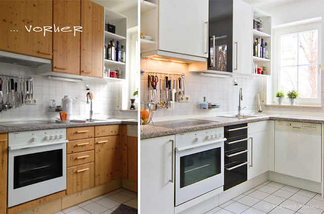 Küchenrenovierung vorher - nachher! Neue Küchenfronten und diese Küche verwandelte sich wie Aschenputtel in eine Prinzessin - Küche!
