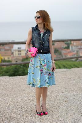 fornarina circle skirt