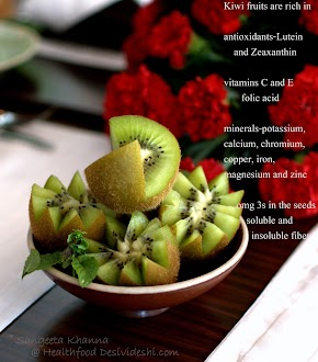 recipes with kiwi fruit and health benefits | learning more kiwi recipes from Chef Darren Conole