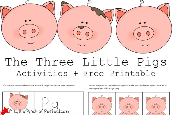Three little pigs characters printable - photo#23