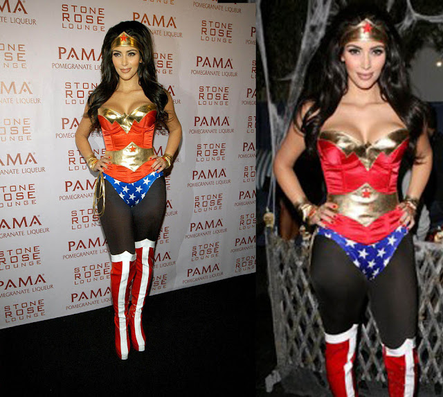 Kim Kardashian Wonder Woman costume pics