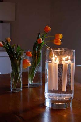 Luci natalizie con riciclo creativo candele