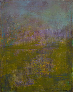 On the Pond, contemporary abstract by Christine Goldbeck
