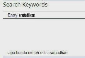 Apo bondo eh ni Edisi Ramadhan