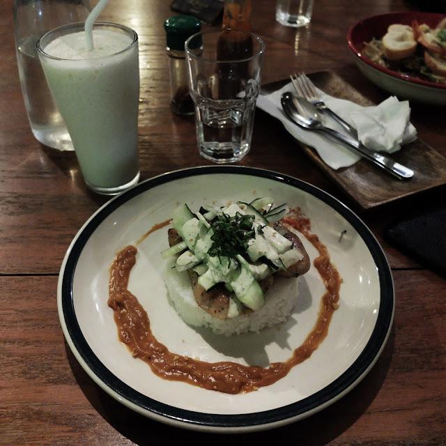 Chicken Cucumber, Leona's Art Restaurant | heyladyspring.com